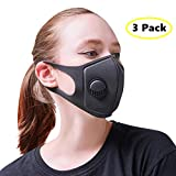 Best Air Pollution Face Mask with Filter and Respirator - Anti-Dust, Smoke, Gas, Allergies - Military Grade - Washable and Reusable - Supports Breathing Clean Air - N95 Protection