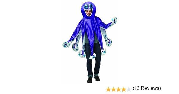 RASTA IMPOSTA Disfraz de pulpo para niño - 7-9 años: Amazon.es ...