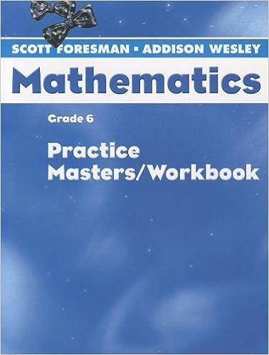 Amazon.com: SCOTT FORESMAN MATH 2004 PRACTICE MASTERS/WORKBOOK ...
