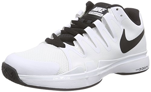 NIKE Mens Zoom Vapor 9.5 Tour Tennis Shoes White/Black 631458-101 Size 8
