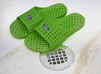 bbf9e23ff149 Amazon.com   Anti-Slip Women s Shower Sandals - Lime   Sports   Outdoors