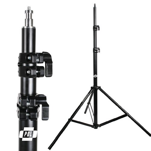 LIGHT STANDS PRO HEAVY DUTY 7'6'' SET OF TWO, WITH ALL METAL LOCKING COLLARS NOT PLASTIC by PBL