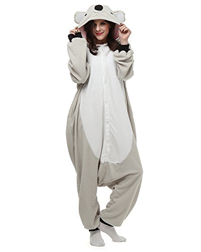 [Oneises Women Men's Animal Koala Onesie Halloween Costume Pajamas Partywear Medium] (Animal Halloween Costumes Men)