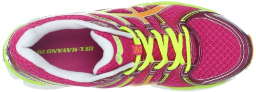 ASICS Women's Gel-Kayano 19 Running Shoe,Raspberry/Mango/Lime,7 M US