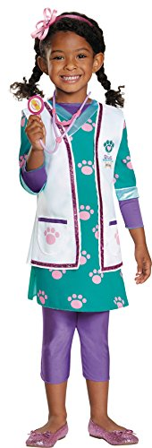 UHC Girl's Doc McStuffins Pet Vet Theme Toddler Child Halloween Fancy Costume, Toddler M (Infant Doc Mcstuffins Costume)