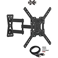 USX Mount XMM006 Full Motion Swivel Articulating TV Mount Bracket 26-55 LED, OLED, 4K TVs-Fit 32, 40, 50 TV VESA 75x75mm, 100x100mm, 200x200mm, 400x400mm-Weight Capacity up to 60lbs