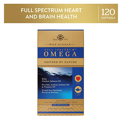 Solgar Wild Alaskan Full SpectrumTM Omega, Tested for Optimum Purity & Potency, Non-GMO, 120 Softgels