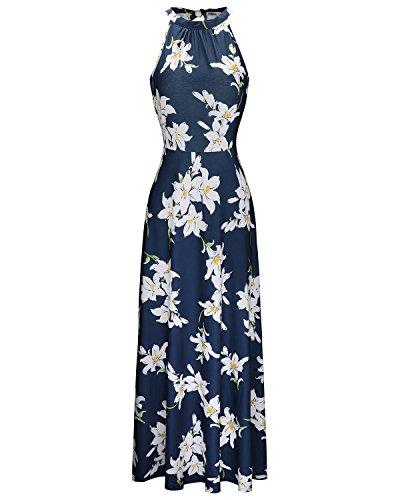 STYLEWORD Women's Off Shoulder Elegant Maxi Long Dress(Floral 02,L)