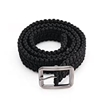 Yosoo 550lbs Paracord Survival Belt Utility Belt Double Cobra Solid Steel Buckle For Camping Hiking and Outdoors