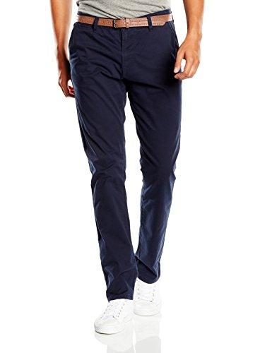 Tom Tailor Denim Solid Skinny Chino with Belt - Pantalones Hombre Azul (Blue Grey 6889)