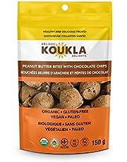 KOUKLA DELIGHTS Peanut Butter & Chocolate Chips Bites, 150 Gram