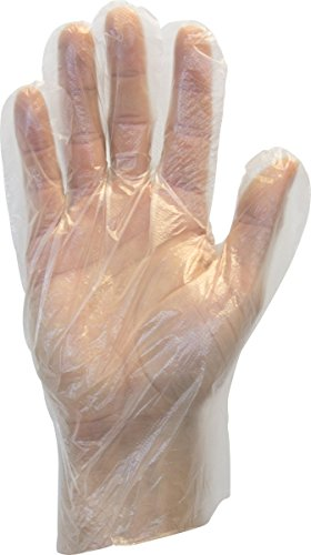 Use Loose Powder (The Safety Zone GDPE-MD-E-100  Powder Free Polyethylene Gloves, Embossed Grip, High Density, Latex Free, Medium, Clear (Pack of 100))