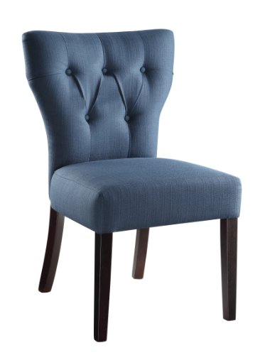 AVE SIX Andrew Upholstered Armless Accent Chair with Wood Le
