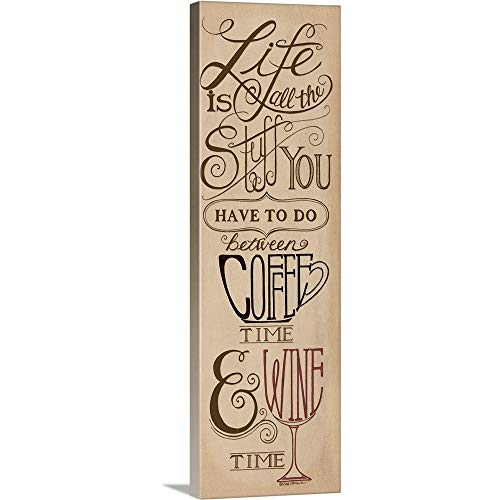 - Coffee and Wine Time Canvas Wall Art Print, 12