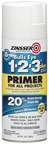 - Rust-Oleum 272479 Zinsser Bulls Eye 1-2-3 Plus Spray Primer, White