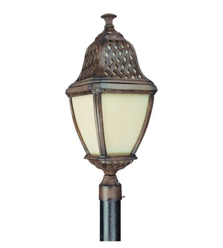 Outdoor Post 1 Light With Biscayne Finish Composite Material Fluorescent 10 inch Wide 32 Watts ()