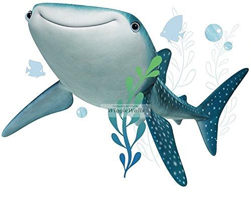 9 Inch Destiny Whale Shark Finding Dory Nemo 2 Movie Removable Peel Self Stick Adhesive Vinyl Decorative Wall Decal Sticker Art Kids Room Home Decor Boys Children Nursery Baby 9x7 (Destiny Decor)