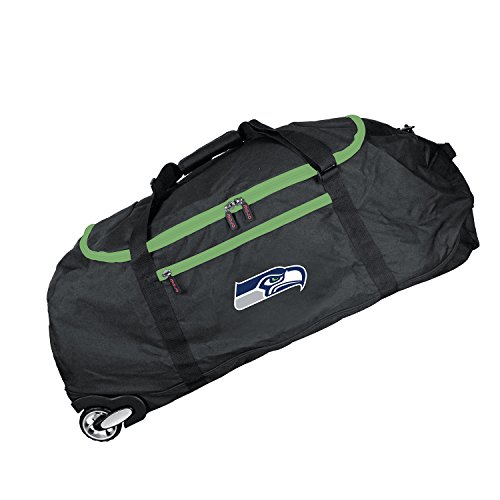 NFL Seattle Seahawks Crusader Collapsible Duffel, 36-inches