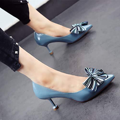 Juego Temperamento Banquete Baja de Zapatos Solo Europeo Charol Zapatos B Estilo de Color de en de a YMFIE Punta Arco Tacones Aguja Boca qzwAZ