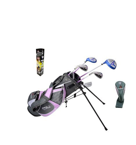 Paragon Rising Star Girls Kids Golf Clubs Set/Ages 8-10 Lavender With Free Golf Gift/Left-Hand