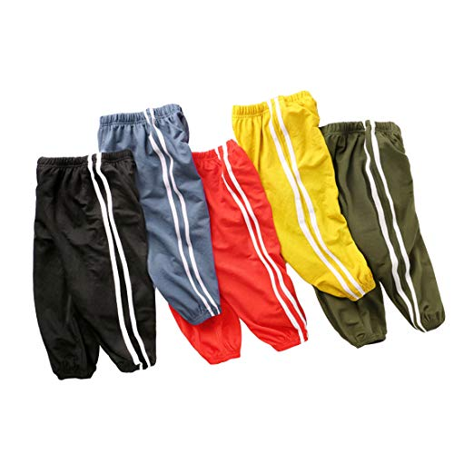 Sweatpants 3 - PAUBOLI Baby Jogger Pants Active Pants Lightweight Tapered Sweatpants for Boys Girls 1-7T (2-3 Years, Black)
