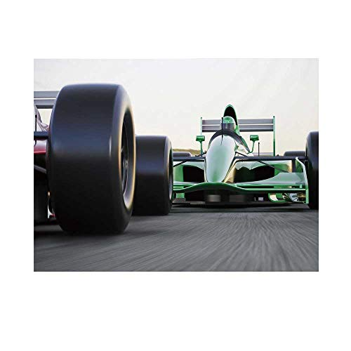 Cars Photography Background,Motorized Sports Theme Indy Cars on Asphalt Road with Motion Blur Formula Race Backdrop for Studio,8x7ft (Asphalt 8 Best Car)