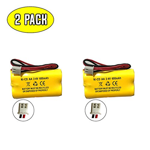 2.4v Exit Sign Emergency Light Battery Lithonia 10010034 Exitronix 10010036 2.4v 600mah 2.4v 400mah NiCad Battery NiCd Exell EBE-179 2.4v 700mah battery (2 Pack) by Battery Hawk