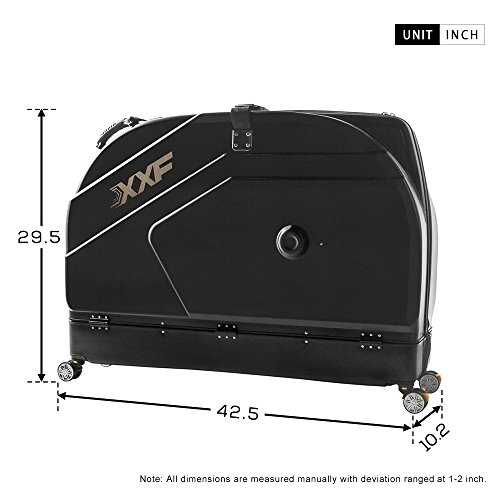 Muses Poem Bike Travel Case for 26''/700C Mountain Road Bicycle Travel Transport Equipment Black by Muses Poem (Image #6)