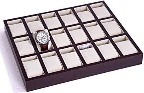 XWYSSH主催 ジュエリー収納ボックス18木製格子時計ブレスレット収納ボックスディスプレイスタンド XWYSSH