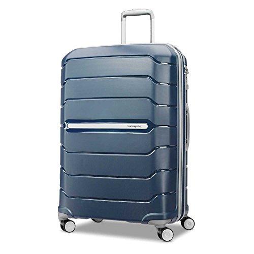 Samsonite Checked-Large, Navy (Expandable Wheeled Suitcase)