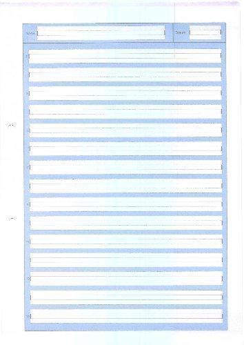 Schreibblock A4 Lineatur 2, 50 Blatt, 80g/qm, 2 fach gelocht, 2