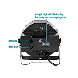 TSSS RGB PAR Light 18 LEDs DMX512 Color Mixing Wash Can Stage Light Disco DJ Wedding Party Show Live Concert Lighting