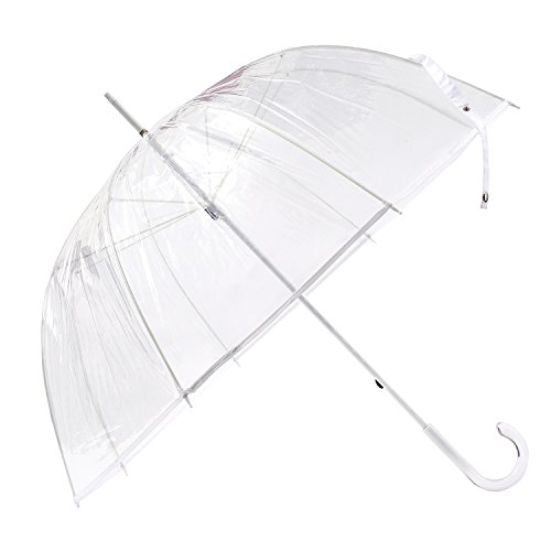 FiveMax 50 Inch Clear Bubble Umbrella (White) (Where To Buy Red Contacts)