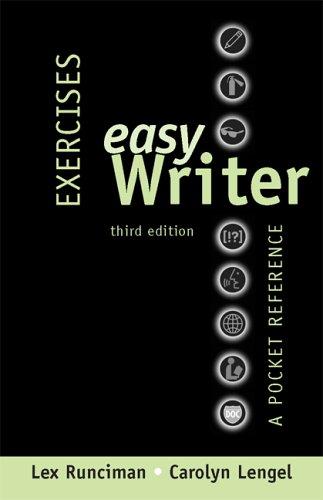 Exercises for Easy Writer