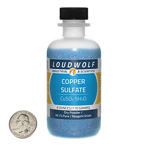 UPC 640052707498, Copper Sulfate / Dry Powder / 6 Ounces / 99.7% Feedstock Grade / SHIPS FAST FROM USA