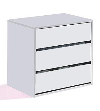 Habitdesign Arc6030 Cajonera Para Armario Color Blanco Brillo Dimensiones 60 X 57 X 44 Cm