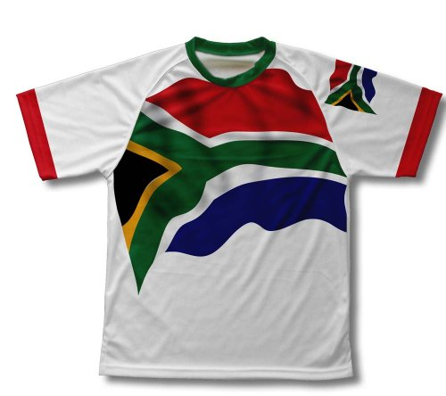 South Africa Flag Technical T-Shirt for Men and Women - Size 4XL by ScudoPro