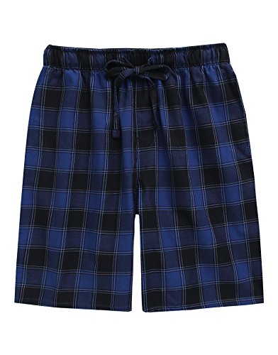 TINFL Boys Soft Cotton Plaid Check Sleep Lounge Shorts BSP-SB003-Navy XXL for $<!--$16.99-->