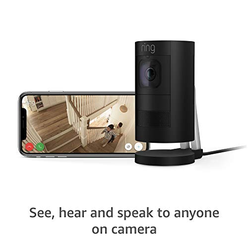 Ring Stick Up Cam Elite, Power over Ethernet HD Security Camera with Two-Way Talk, Night Vision, Black, Works with Alexa
