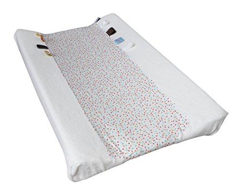70 X Feliz Confeti cambiador Cm Snoozebaby Blanco Cover Vestir 45 v8awR