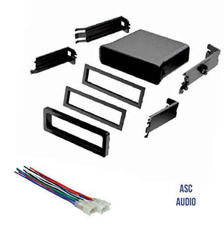 ASC Car Stereo Dash Install Pocket Kit and Wire Harness for Installing a Single Din Radio for some Toyota- see below - Tundra Single
