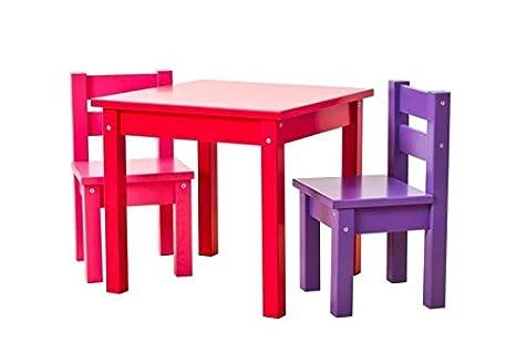 Hoppe Kids Multicolor Lätt Mads: Mesa Rojo, sillas Lila ...