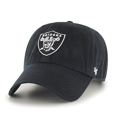 NFL Oakland Raiders Clean Up Adjustable Hat, Black, One Size Fits All Fits All