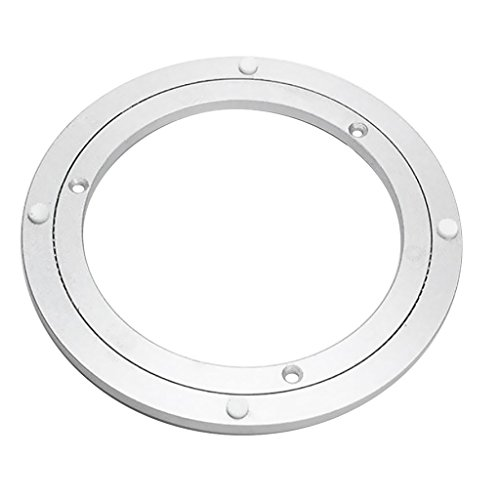 QBOSO 200mm Aluminum Lazy Susan Bearing with Ball Ring Turntable Swivel Hardware for Asian Restaurant Dining Table (8-Inch 80-120 Lb Load Capacity)