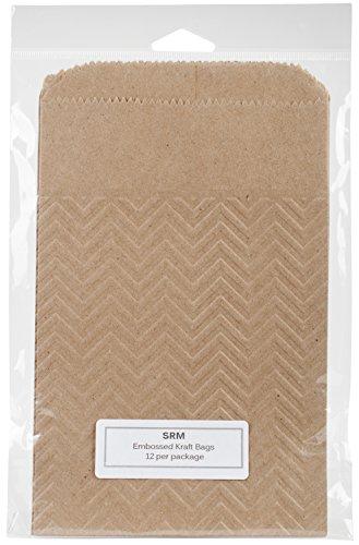 SRM Press 70006 Embossed Kraft Bags 5