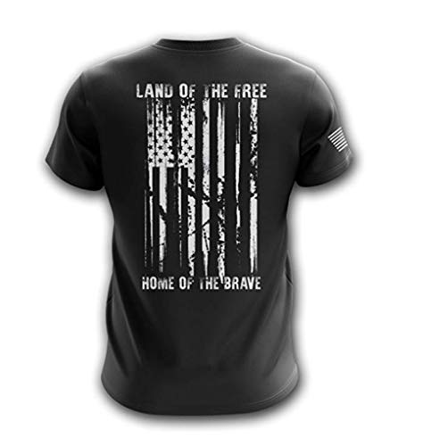 Tactical Pro Supply American Flag Military Army Mens T Shirt (Land of The Free - USA, X-Large) -