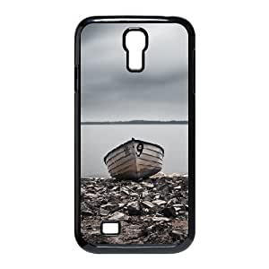 Okaycosama Abandoned Boat 2 Samsung Galaxy S4 Case for Teen Girls Protective, Case for Samsung Galaxy S4 Mini I9195 [Black]