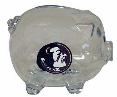 NCAA Florida State Seminoles Clear Plastic Piggy Bank