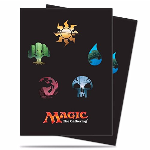 Magic the Gathering Standard Deck Protectors - Mana Symbols (80) by Ultra Pro