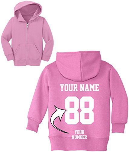 Custom Zip Up Toddler Hoodies - Design Your OWN Jersey - Hooded Team Sweaters ()